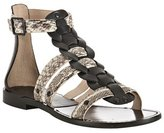 black leather 'Kassandra' gladiator sandals