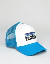 Patagonia Logo Trucker Cap In White