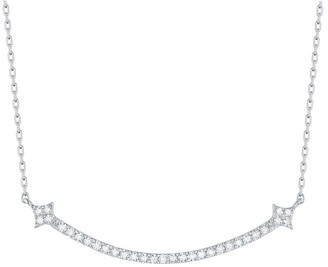 Lab Grown Diamond Smile Necklaces for Women, 1/3 ctw 10K Solid Gold by Smiling Rocks