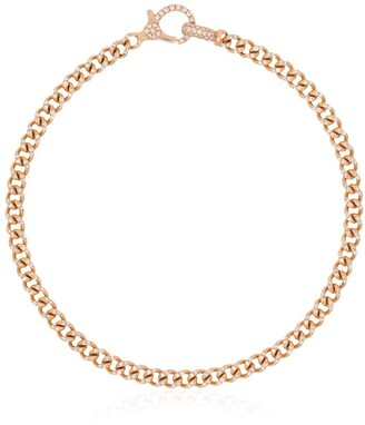 Shay 18kt Rose Gold Pave Diamond 7.5 Inch Link Bracelet