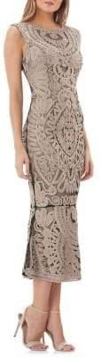 JS Collections Soutache Midi Dress