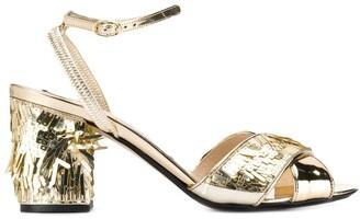No.21 Platinum Gold Sandals