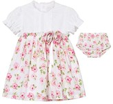 Emile et Rose Kathryn White and Floral Cotton Dress