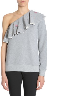 MSGM One-shoulder Sweatshirt