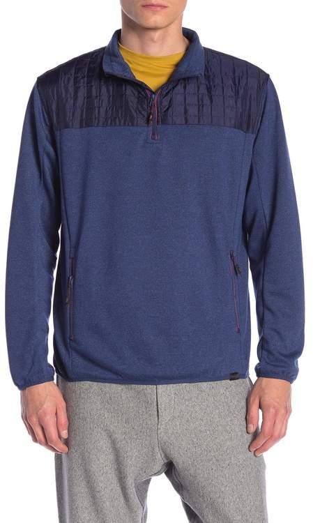 Hawke & Co Contrast Yoke Half Zip Pullover