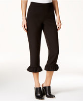 SHIFT Juniors' Ruffled Cropped Pants, Only at Macy's