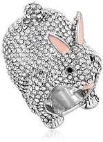 Kate Spade RABbit Clear/Silver Ring, Size 6