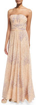 Michael Kors Strapless Corset Gown, Nude