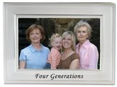 Lawrence Frames Sentiments Collection, Brushed Metal 4 by 6 Four Generations Picture Frame