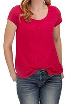 Lucky Brand Women's Sleeveless Embroidered Shirt Tail Tee