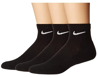 Nike Everyday Cushion Ankle Socks 3-Pair Pack (Black/White) Low Cut Socks Shoes