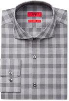 HUGO BOSS HUGO Men's Slim-Fit Grey Plaid Dress Shirt