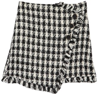 J.o.a. Houndstooth Tweed Mini Skirt
