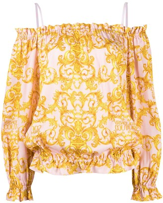 Versace Jeans Couture Patterned Off-The-Shoulder Top
