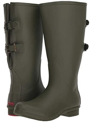 Chooka Wide Calf Versa Rain Boot (Moss) Women's Rain Boots