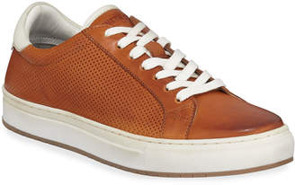 Kenneth Cole Men's Don Perforated Leather Low-Top Sneakers