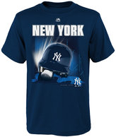Majestic Boys' New York Yankees Kinetic Helmet T-Shirt
