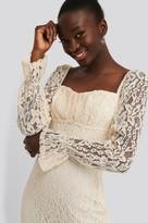 NA-KD Ruched Mini Lace Dress