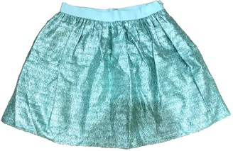 Manoush Green Glitter Skirt for Women
