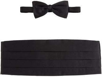 Ermenegildo Zegna Silk Cummerbund & Bow Tie Set