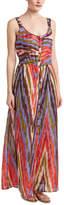 Nanette Lepore Button Front Silk Maxi Dress
