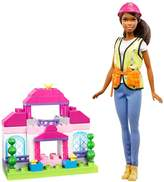 Barbie Brunette Builder Doll & Playset by Mattel