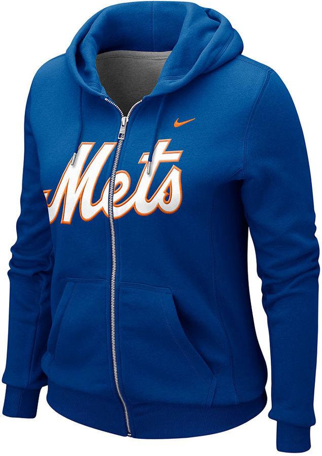 Nike Women's Sweatshirt, Mets Full Zip Hoodie