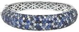 Effy Jewelry Effy 925 Splash Blue Sapphire Bangle, 15.43 TCW