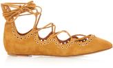 Isabel Marant Leo lace-up suede ballet flats