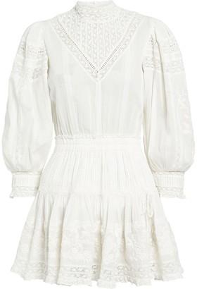 LoveShackFancy Viola Lace-Trimmed Cotton Dress