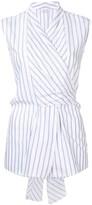 Brunello Cucinelli striped wrap top