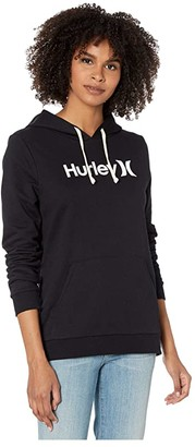 Hurley One and Only Fleece Pullover (Black/White) Women's Sweatshirt