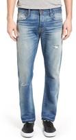 Current/Elliott Men's The Crossover Release Hem Straight Leg Jeans