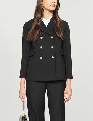 S Max Mara Rana double-breasted wool and cotton-blend blazer