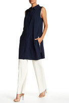 Adrienne Vittadini Sleeveless Button-Up Blouse