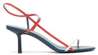 The Row Bare Tri-colour Leather Sandals - Red