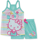 Asstd National Brand Hello Kitty 2-pc. Sleep Shirt and Shorts Set - Girls