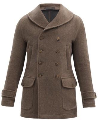 Giorgio Armani Shawl-lapel Double-breasted Cashmere Coat - Beige