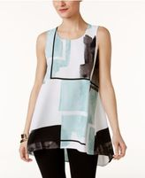 Alfani Printed High-Low Top, Only at Macy's
