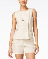 XOXO Juniors' Linen-Blend Vest