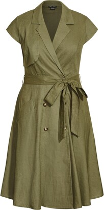 City Chic Essential V-Neck Dress
