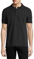Tom Ford Tennis Pique Polo Shirt, Black