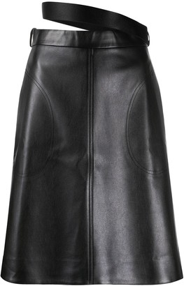 Peter Do Leather Look Midi Skirt