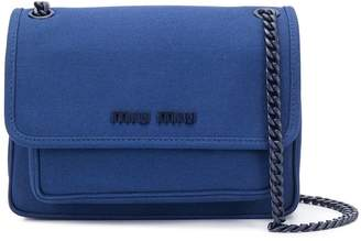 Miu Miu lettering logo shoulder bag