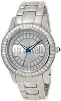 Just Cavalli Women's R7253169115 Ice Round Stainless Steel Swarovski Crystal Luminous Watch