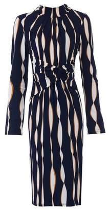 Dorothy Perkins Womens *Jolie Moi Navy Wave Long Sleeve Dress, Navy