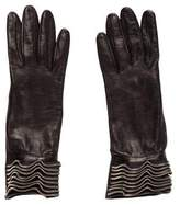 Giorgio Armani Leather Embellished Gloves