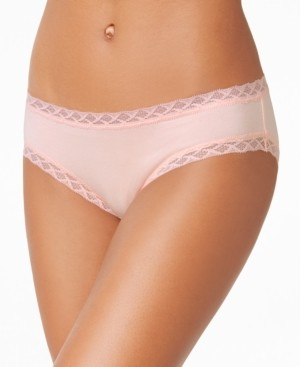 Natori Bliss Lace-Trim Cotton Brief Underwear 156058