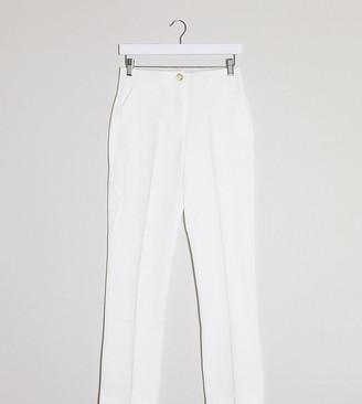ASOS DESIGN Petite tapered suit trousers in texture