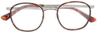 Persol Round-Frame Logo Glasses